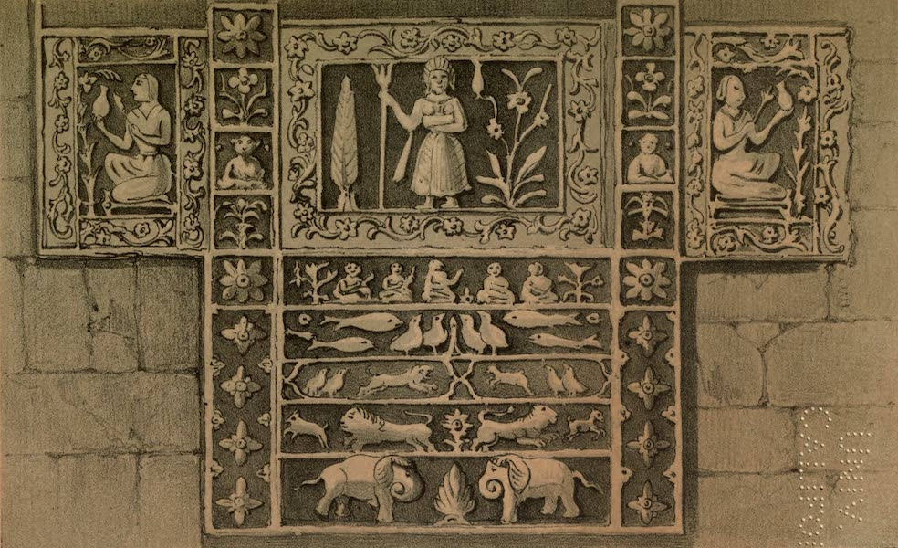 Diary of a Pedestrian in Cashmere and Thibet - Temple Decoration, Himalayas (1863)