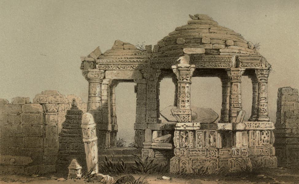 Diary of a Pedestrian in Cashmere and Thibet - Ancient Jain Temple (1863)