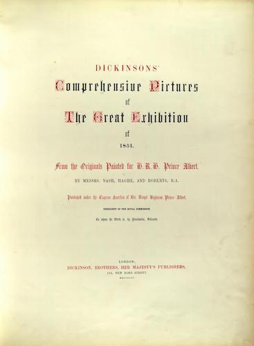 English - Dickinsons' Great Exhibition of 1851