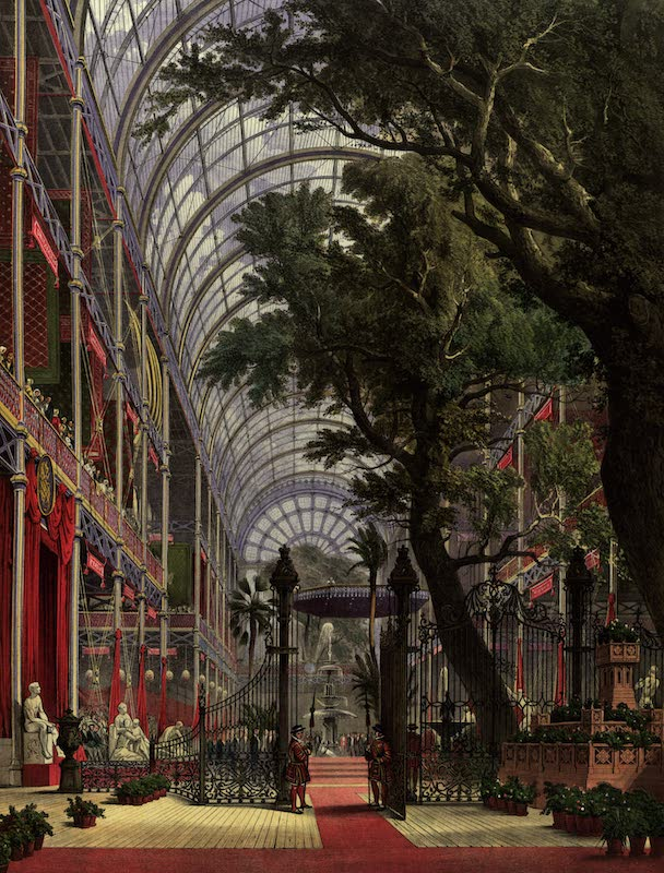 Dickinsons' Great Exhibition of 1851 - North Transept Waiting For the Queen (1852)