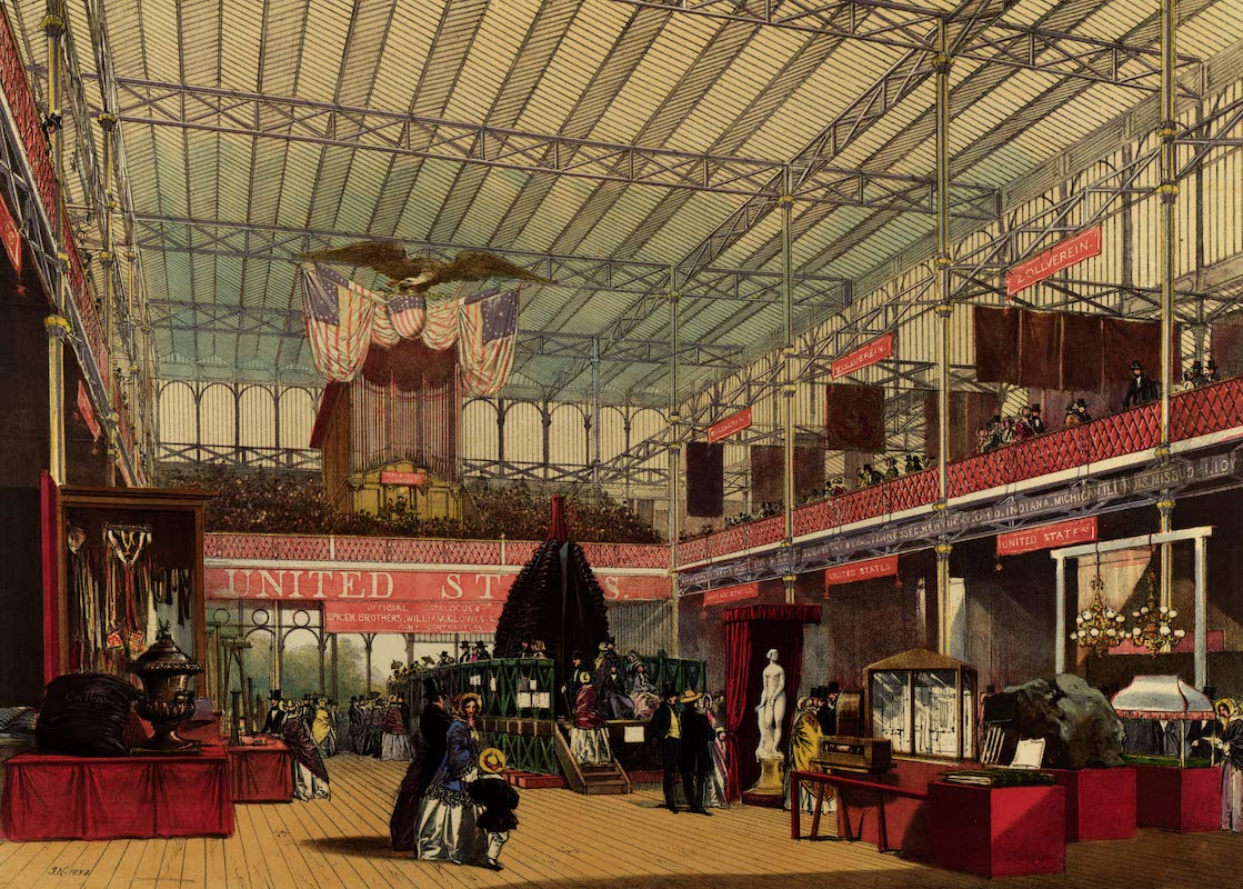 Dickinsons' Great Exhibition of 1851 - America from the North-West End (1852)