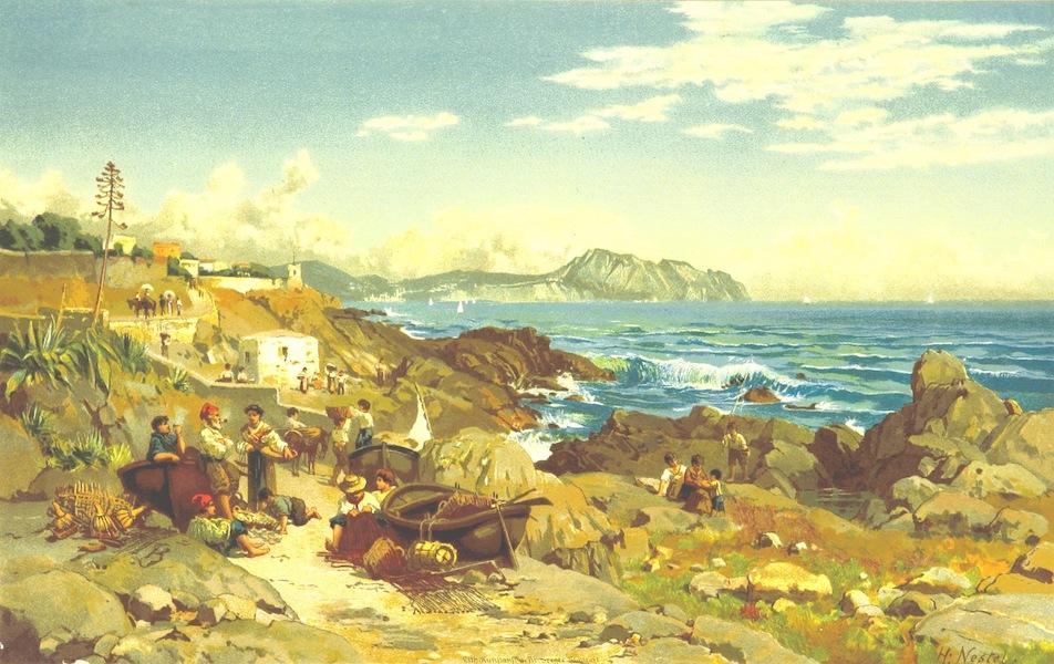 Die Riviera: Wanderziele und Winterasyle - Strand bei Nervi (1884)