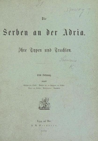 Die Serben an der Adria - Title Page (1870)