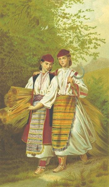 Die Serben an der Adria - Madchen aus der Umgegend von Verlika (1870)