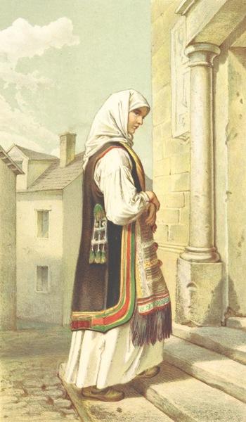 Die Serben an der Adria - Frau aus der Umgebung von Zengg (1870)