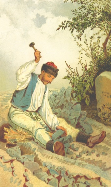 Die Serben an der Adria - Steinbrecher bei Zengg (1870)