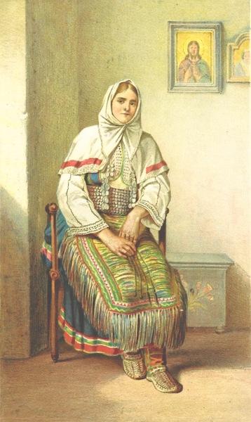 Die Serben an der Adria - Frau aus Benkovac (1870)