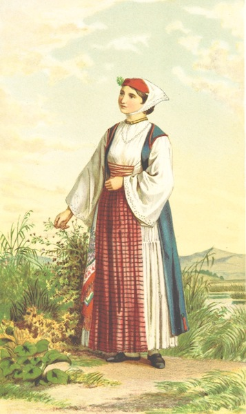 Die Serben an der Adria - Madchen aus Sinj (1870)