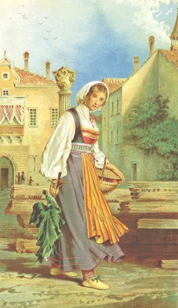 Die Serben an der Adria - Frau aus Sta. Eufemia (1870)