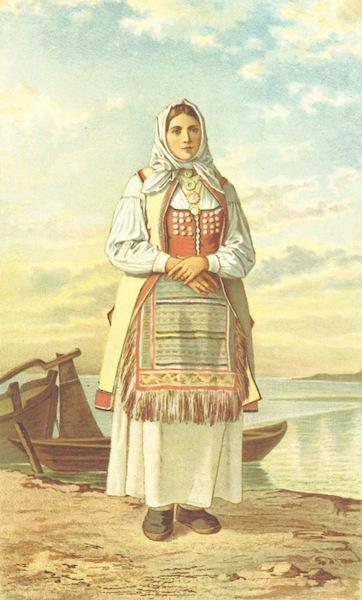 Die Serben an der Adria - Madchen aus der Umgegend von Zengg (1870)