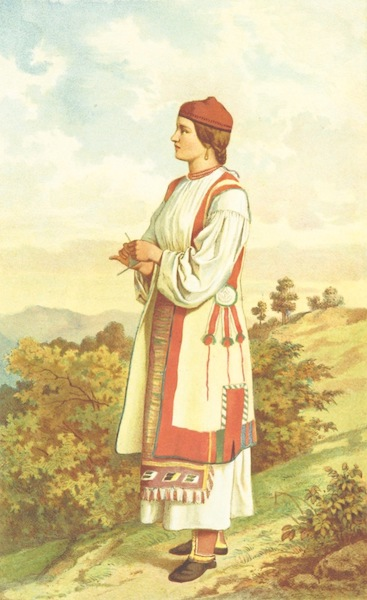 Die Serben an der Adria - Madchen aus Verlika (1870)