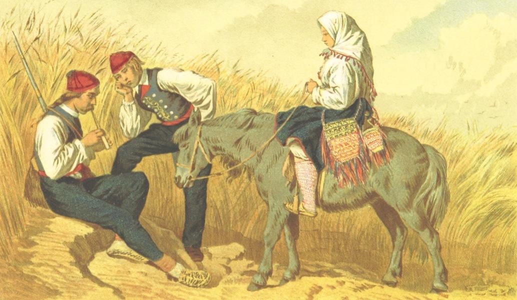 Die Serben an der Adria - Trachten aus den Umgebungen von Zara (1870)