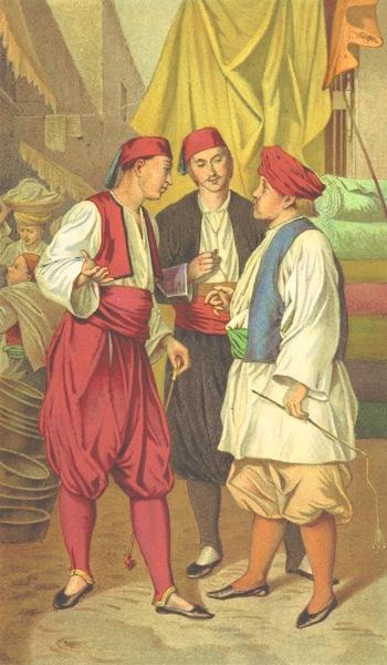 Die Serben an der Adria - Am Markte von Gaba (1870)