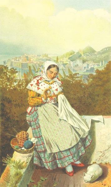Die Serben an der Adria - Frau aus Ragusa (1870)