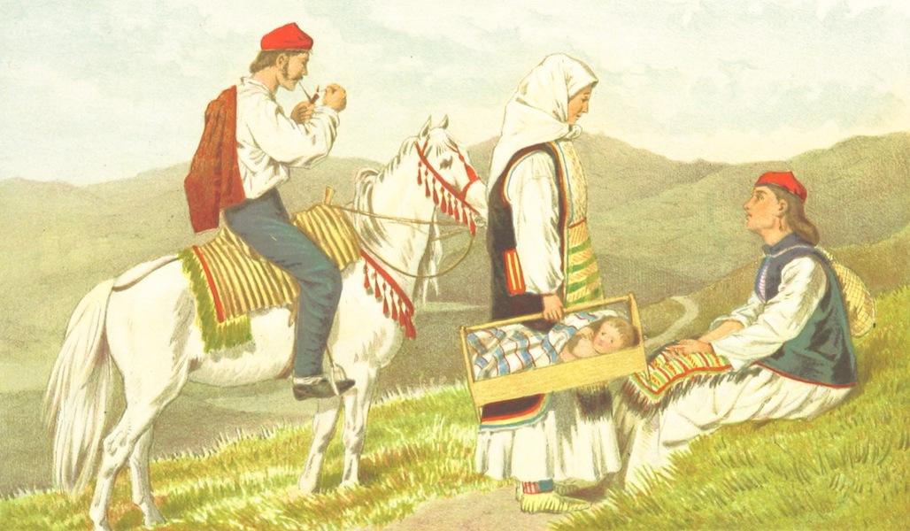 Die Serben an der Adria - Trachten aus der Umgegend von Knin (1870)