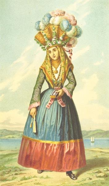 Die Serben an der Adria - Madchen aus Orebic (1870)