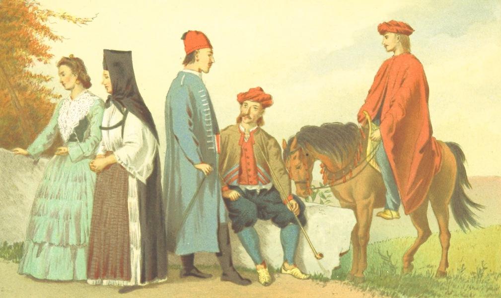Die Serben an der Adria - Trachten aus Sinj (1870)