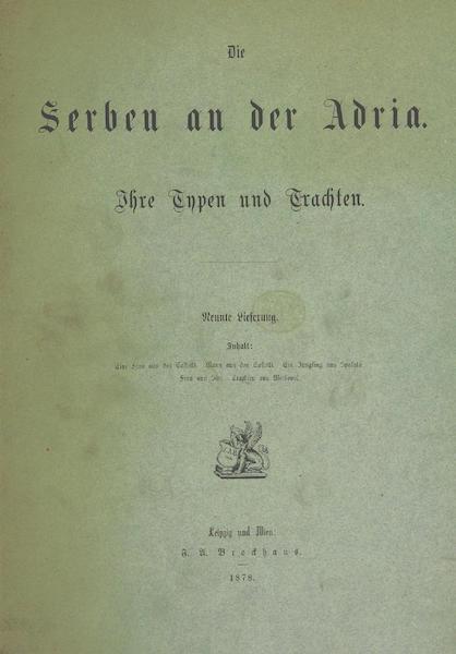 Die Serben an der Adria - Back Cover (1870)