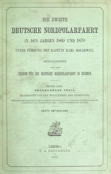 Die zweite Deutsche Nordpolarfahrt Vol. 1 - Front Cover (1873)
