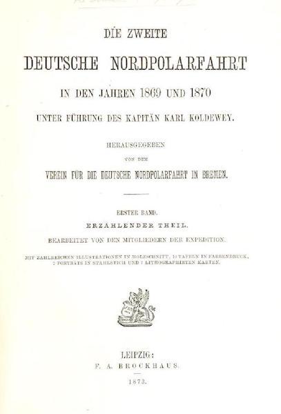 Die zweite Deutsche Nordpolarfahrt Vol. 1 - Title Page (1873)