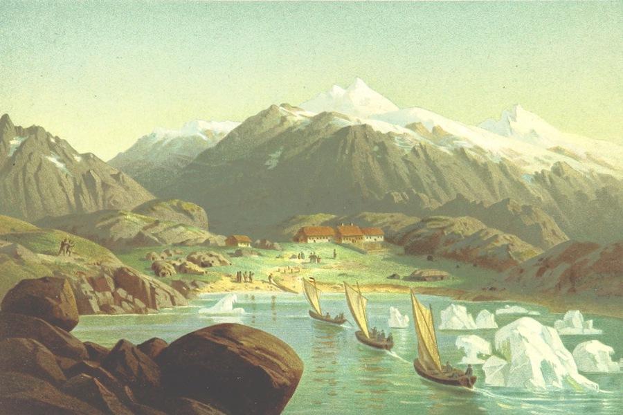 Ankunft der Hansabote in der Missionsstation Friedrichsthal