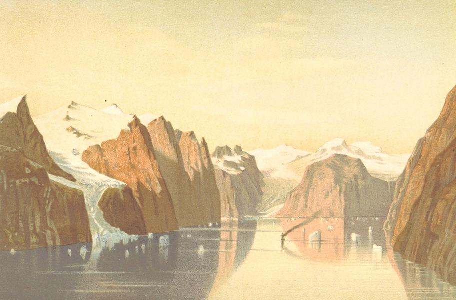 Die zweite Deutsche Nordpolarfahrt Vol. 1 - Kaiser Franz Josephs Fjord mit der Payerspitze (1873)