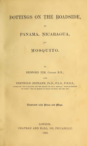 Aquatint & Lithography - Dottings on the Roadside in Panama, Nicaragua, and Mosquito