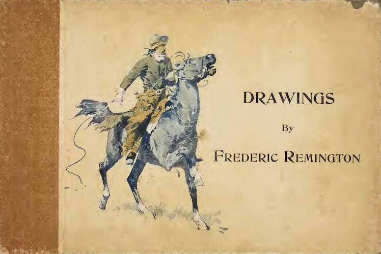 Aquatint & Lithography - Drawings by Frederic Remington