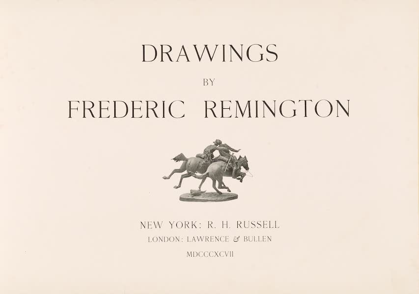 Drawings by Frederic Remington - Title Page (1897)