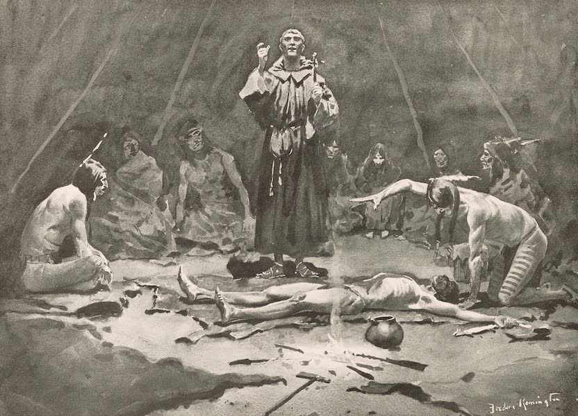 Drawings by Frederic Remington - The Missionary and the Medicine Man (1897)