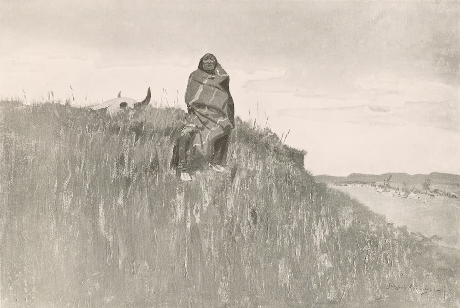 Drawings by Frederic Remington - When His Heart is Bad (1897)