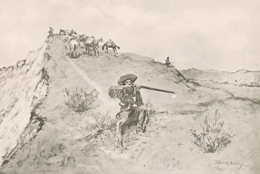 Drawings by Frederic Remington - A Citadel of the Plains (1897)