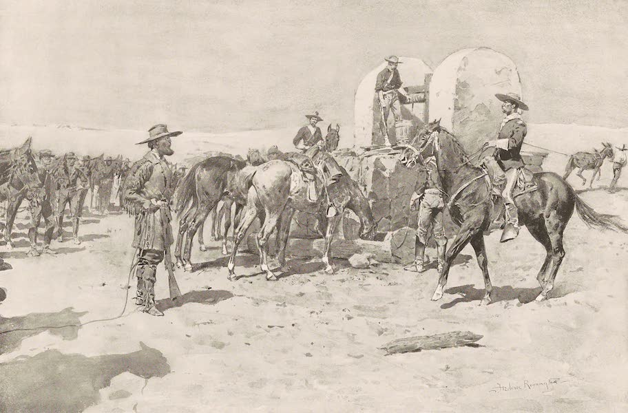 Drawings by Frederic Remington - The Well in the Desert (1897)