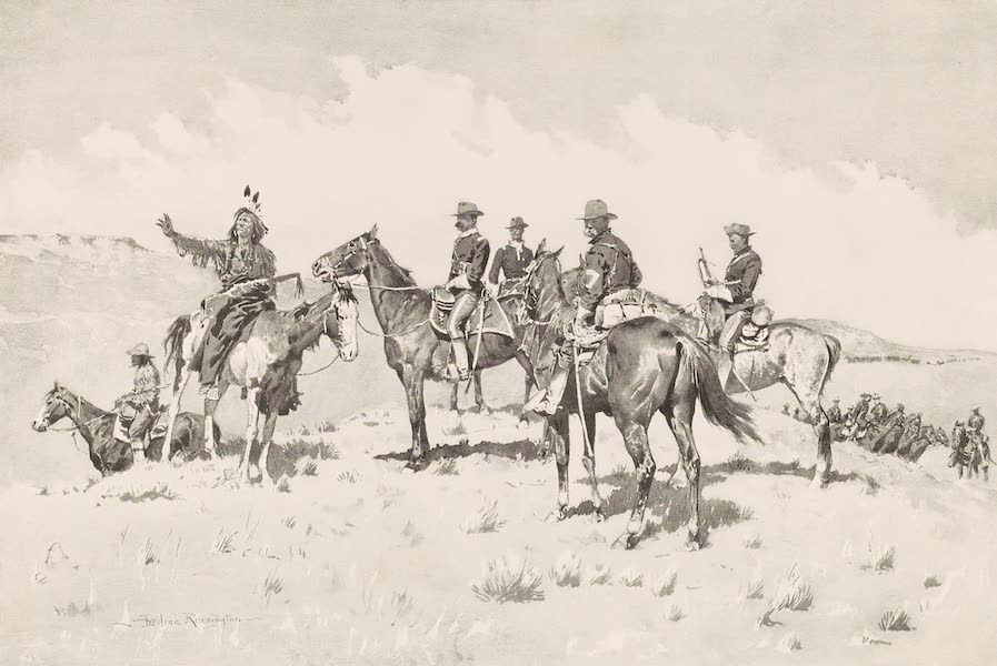 Drawings by Frederic Remington - The Border of the Other Tribe (1897)