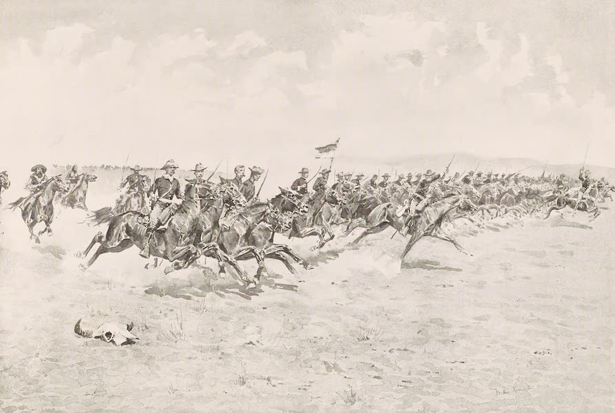Drawings by Frederic Remington - The Charge (1897)