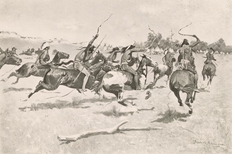 Drawings by Frederic Remington - The Pony War Dance (1897)