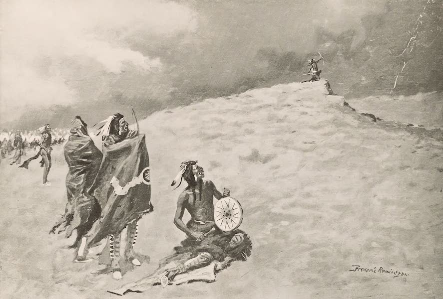 Drawings by Frederic Remington - The Coming Storm (1897)
