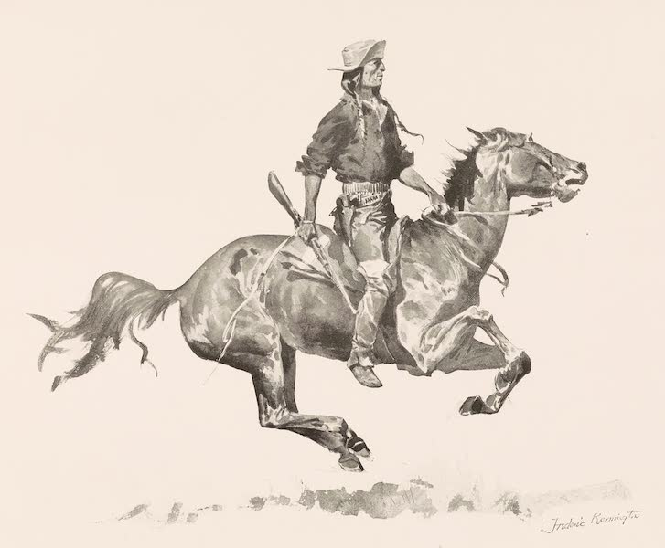 Drawings by Frederic Remington - A Crow Scout (1897)