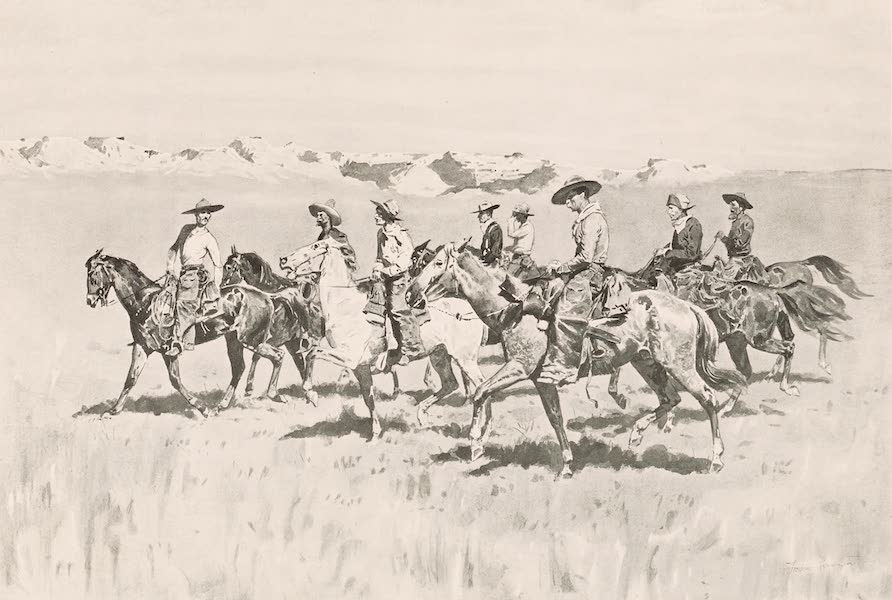 Drawings by Frederic Remington - The Punchers (1897)