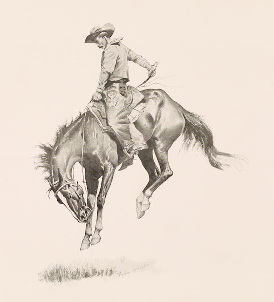 Drawings by Frederic Remington - A Sun Fisher (1897)