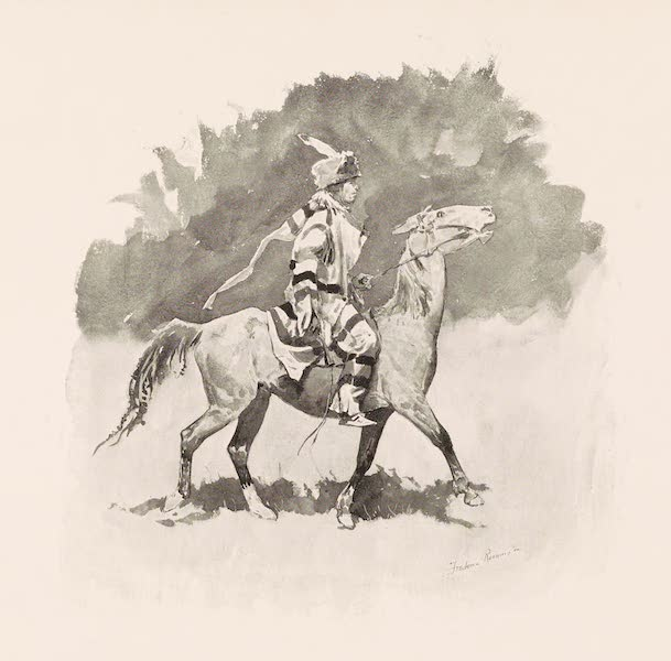 Drawings by Frederic Remington - Snow Indian or the Northwest Type (1897)
