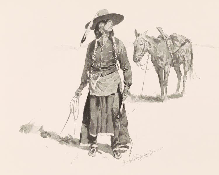 Drawings by Frederic Remington - Nez Perce Indian (1897)