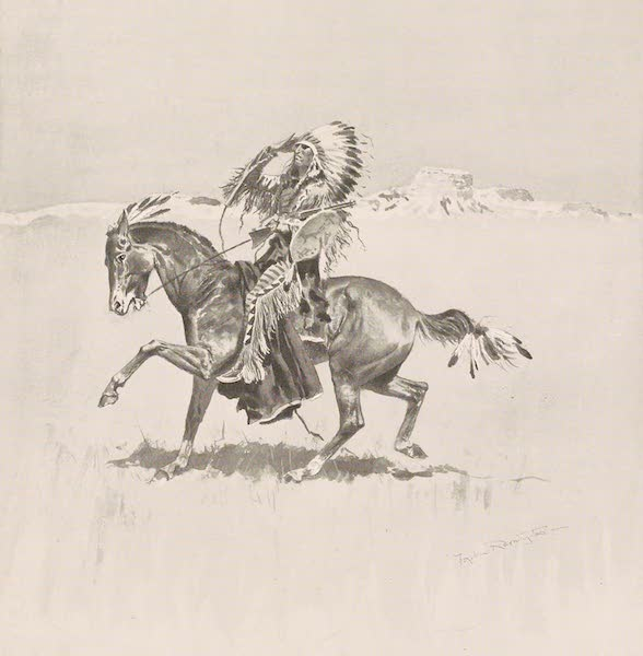 Drawings by Frederic Remington - A Cheyenne Warrior (1897)