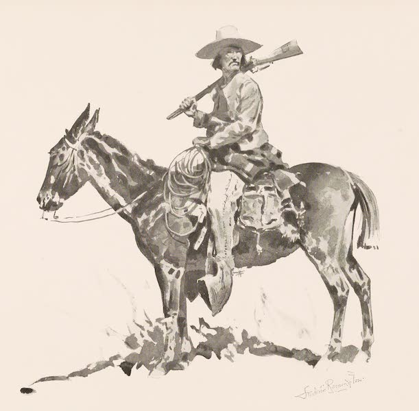 Drawings by Frederic Remington - A Greaser (1897)