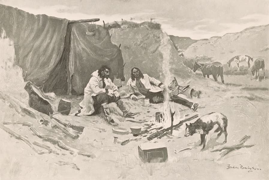 Drawings by Frederic Remington - Half-Breed Horse Thieves of the Northwest (1897)