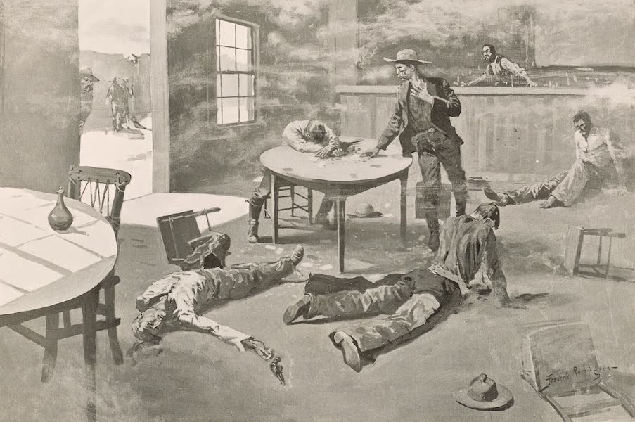 Drawings by Frederic Remington - A Misdeal (1897)