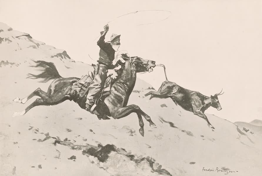 Drawings by Frederic Remington - Over the Foot-Hills (1897)