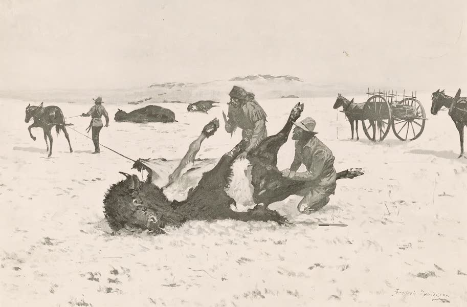 Drawings by Frederic Remington - Taking the Robe (1897)