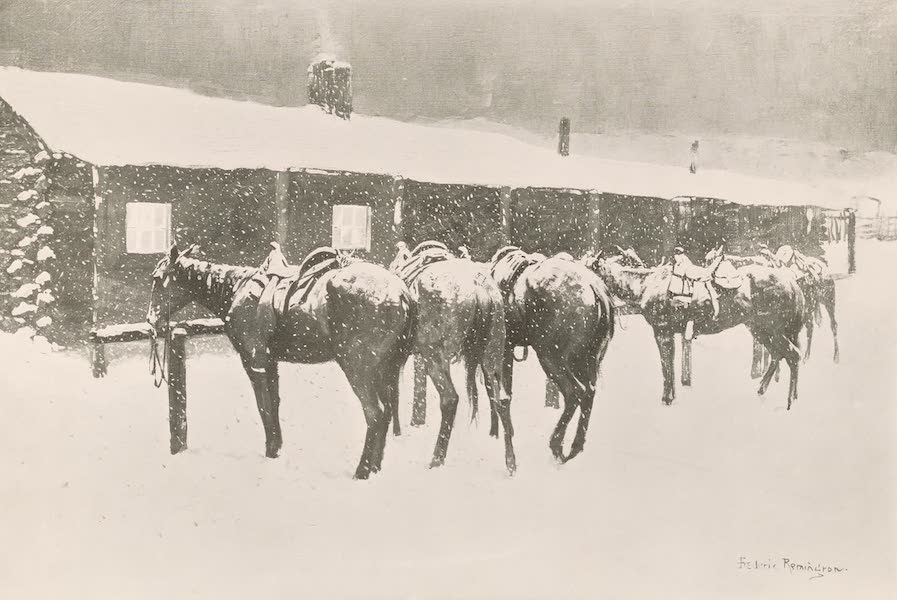 Drawings by Frederic Remington - Cow Pony Pathos (1897)