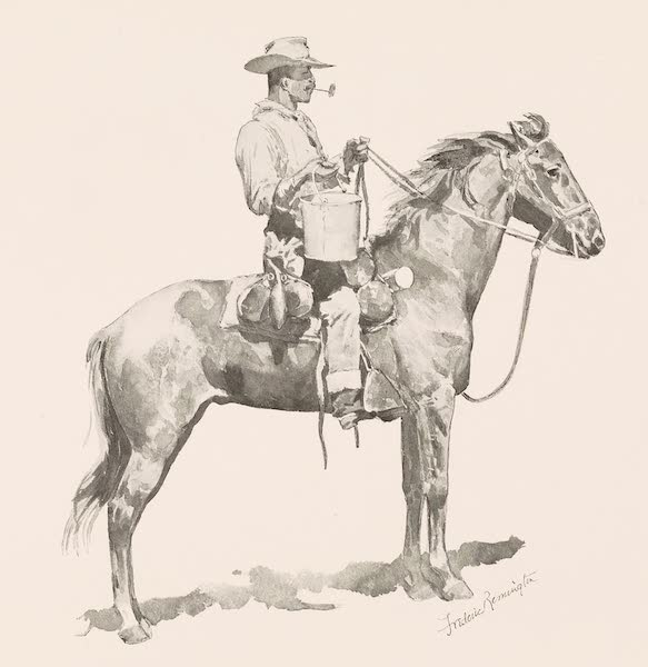 Drawings by Frederic Remington - The Cavalry Cook with Water (1897)
